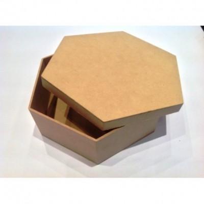 Caja hexagonal tapa zapato 12x8,5cm El Tigre